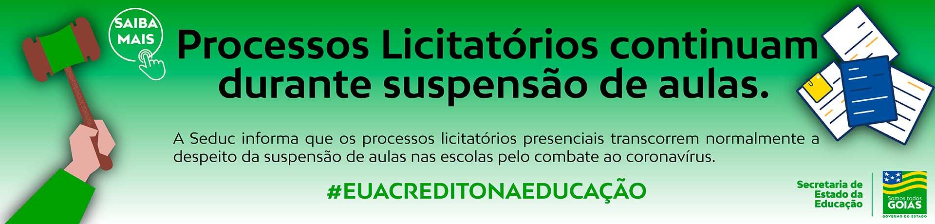 Informativo processos licitatórios