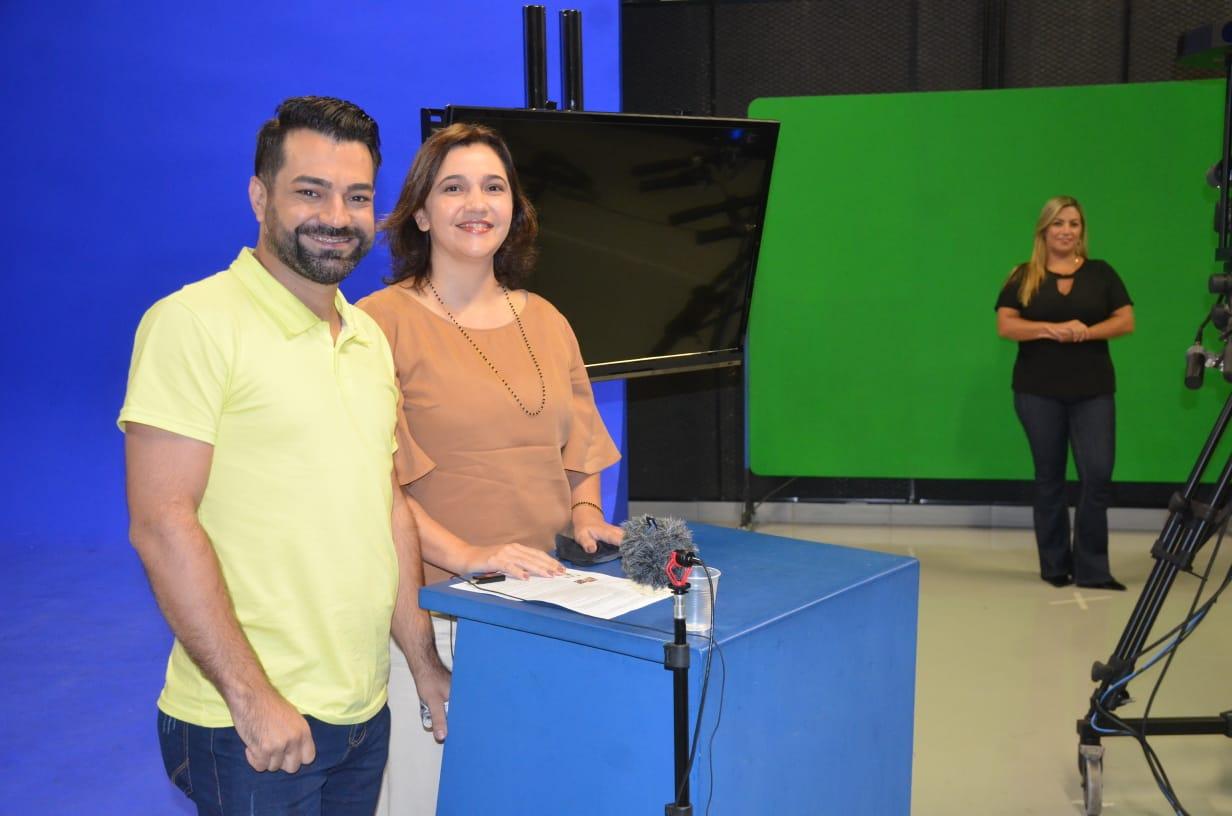 Aula do Seduc em Ação na TV Brasil Central
