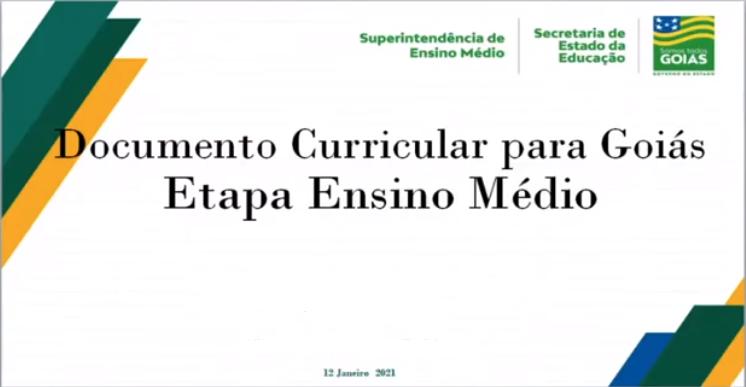 Dccumento Curricular para Goiás - etapa ensino médio é apresentado em audiência pública do CEE