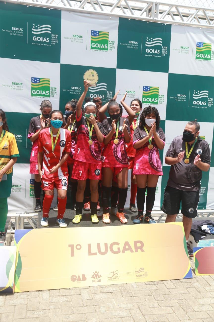 Campeãs do Futsal Feminino Infanto - Jogos Estudantis de Goiás 2021