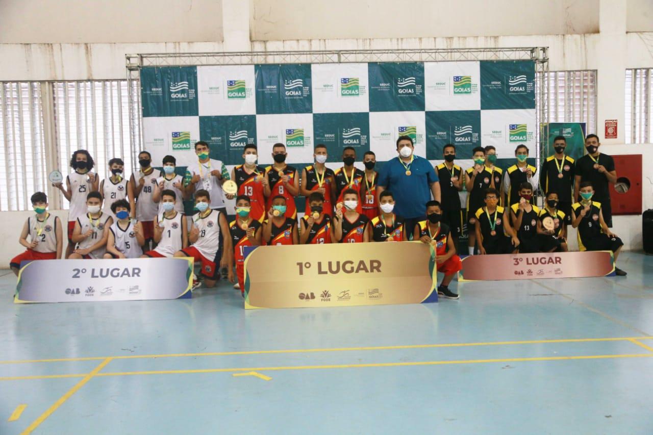 Vencedores do basquetebol masculino dos Jogos Estudantis de Goiás 2020, categoria Infanto
